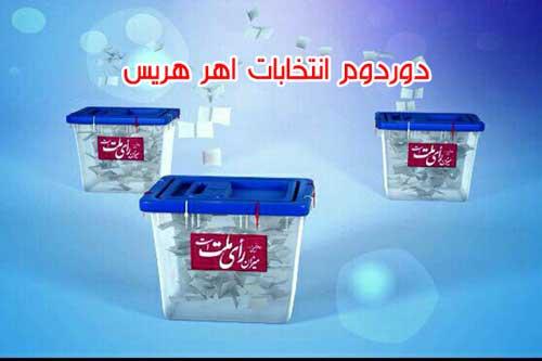دور دوم انتخابات مجلس اهر هریس